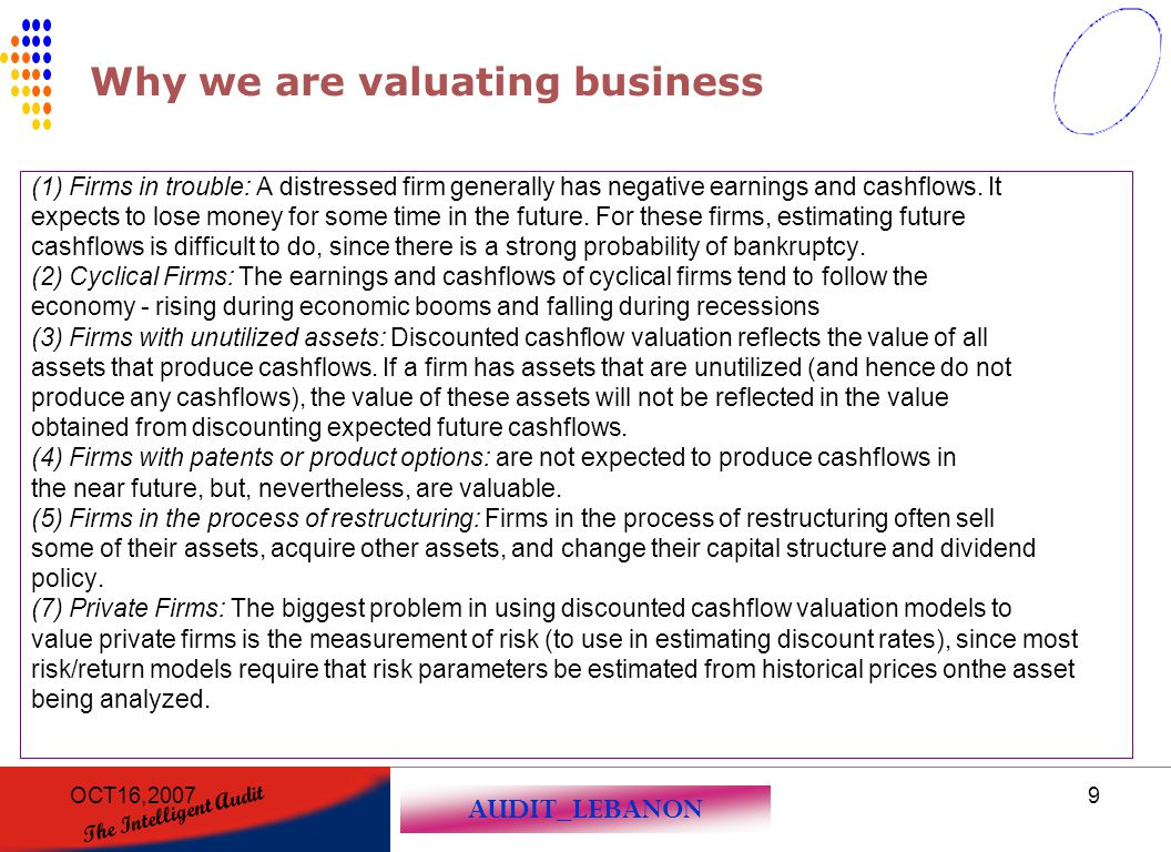 Why we are valuating business