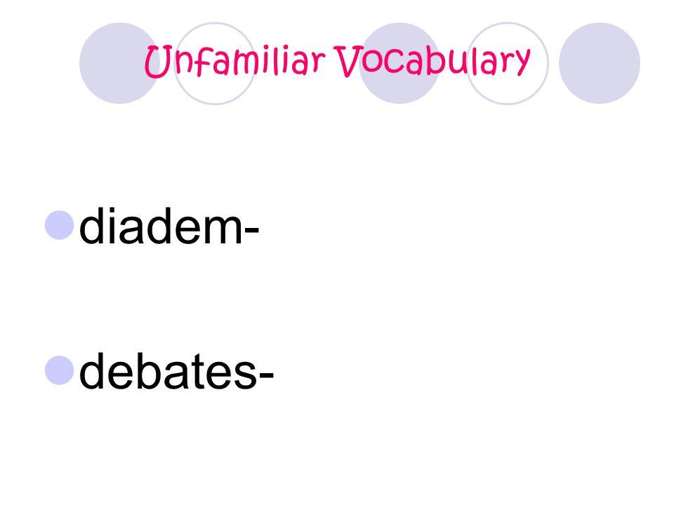 Unfamiliar Vocabulary