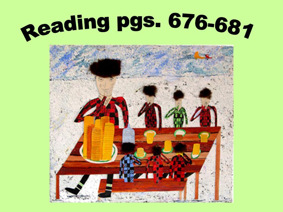 Reading pgs. 676-681