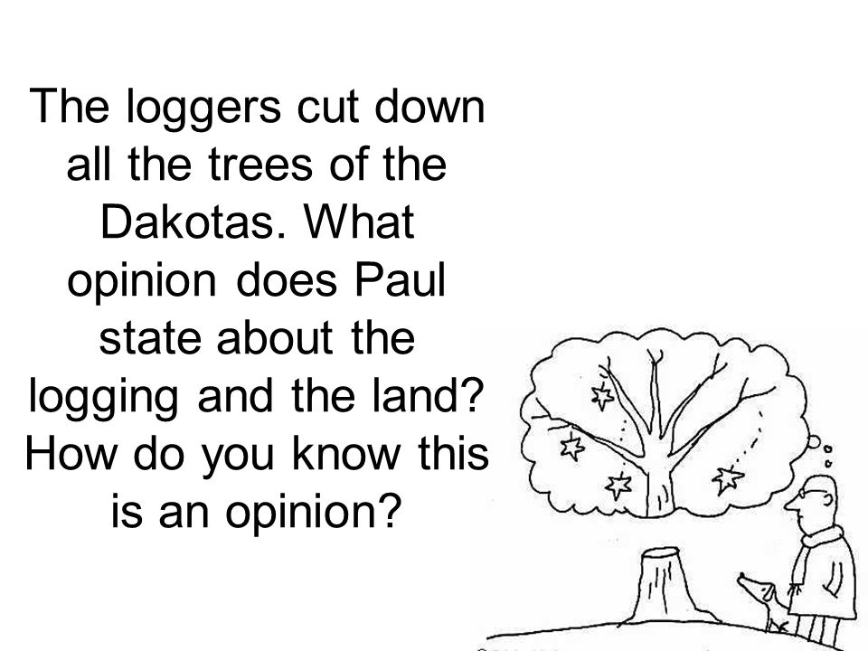 The loggers cut down all the trees of the Dakotas