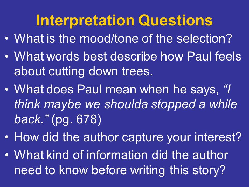 Interpretation Questions
