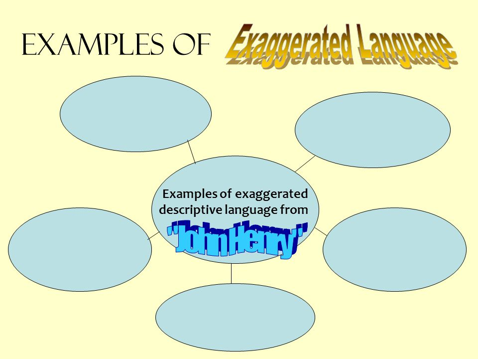 Examples of exaggerated descriptive language from