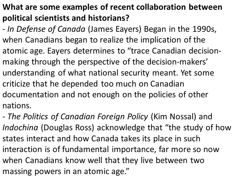 What are some examples of recent collaboration between political scientists and historians