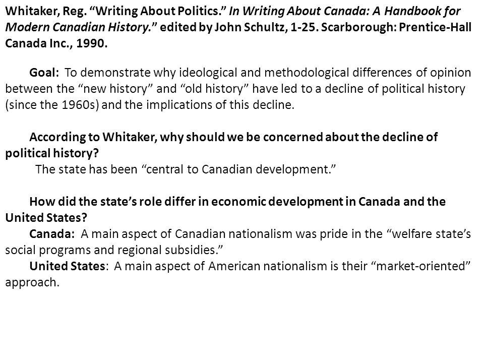 Whitaker, Reg. Writing About Politics
