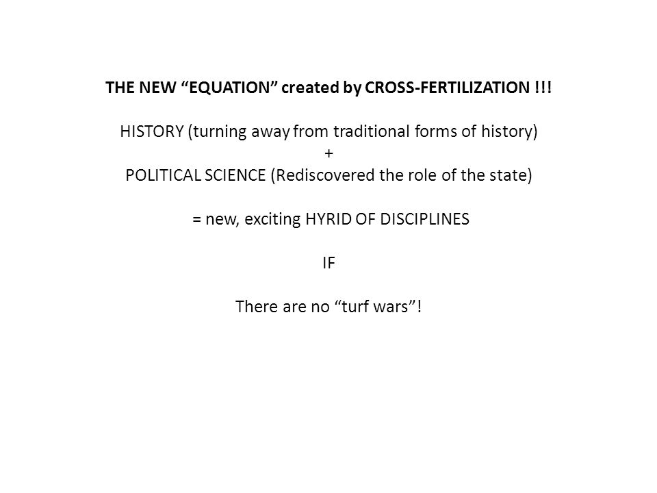 THE NEW EQUATION created by CROSS-FERTILIZATION !!!
