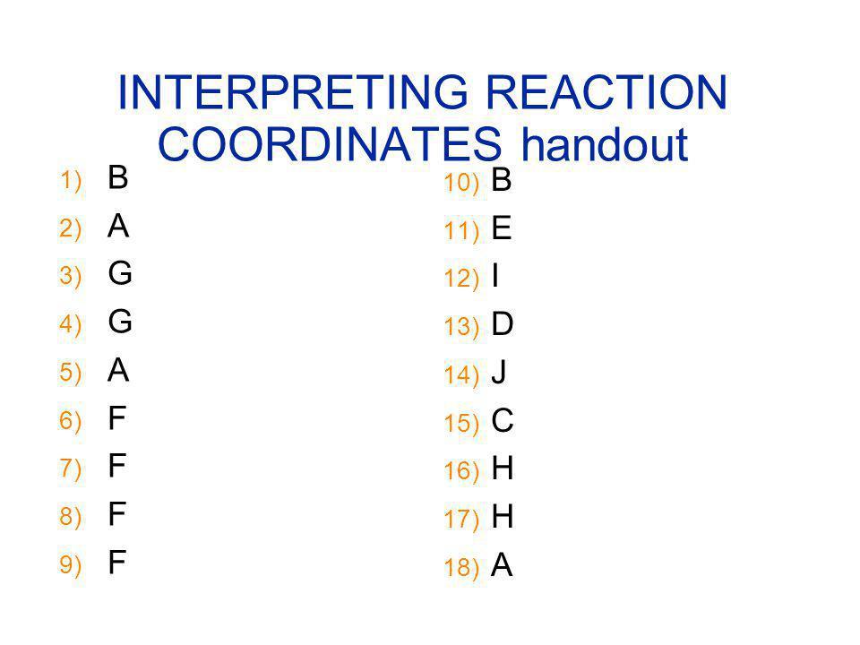 INTERPRETING REACTION COORDINATES handout