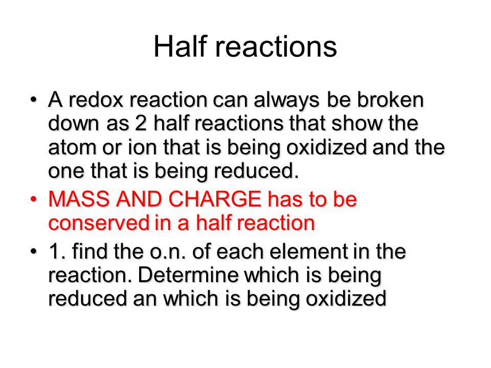 Half reactions