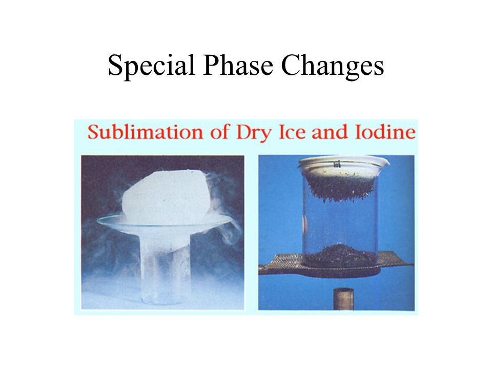 Special Phase Changes