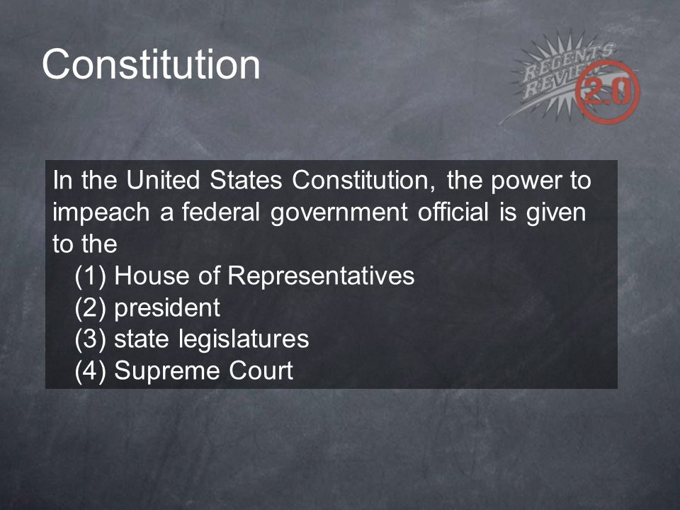 Constitution In the United States Constitution, the power to