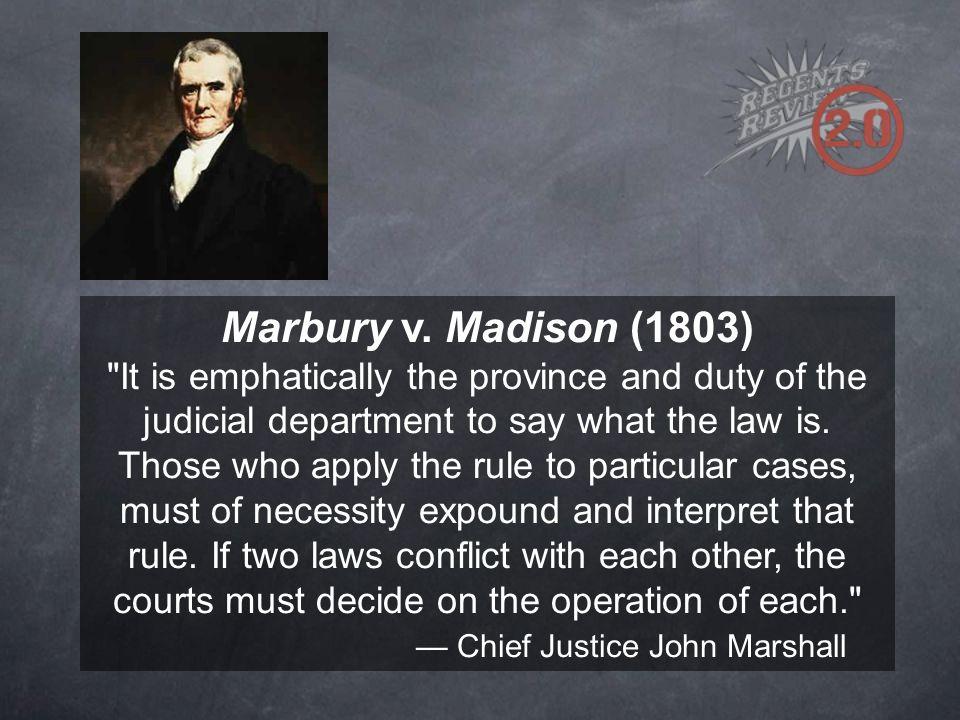— Chief Justice John Marshall