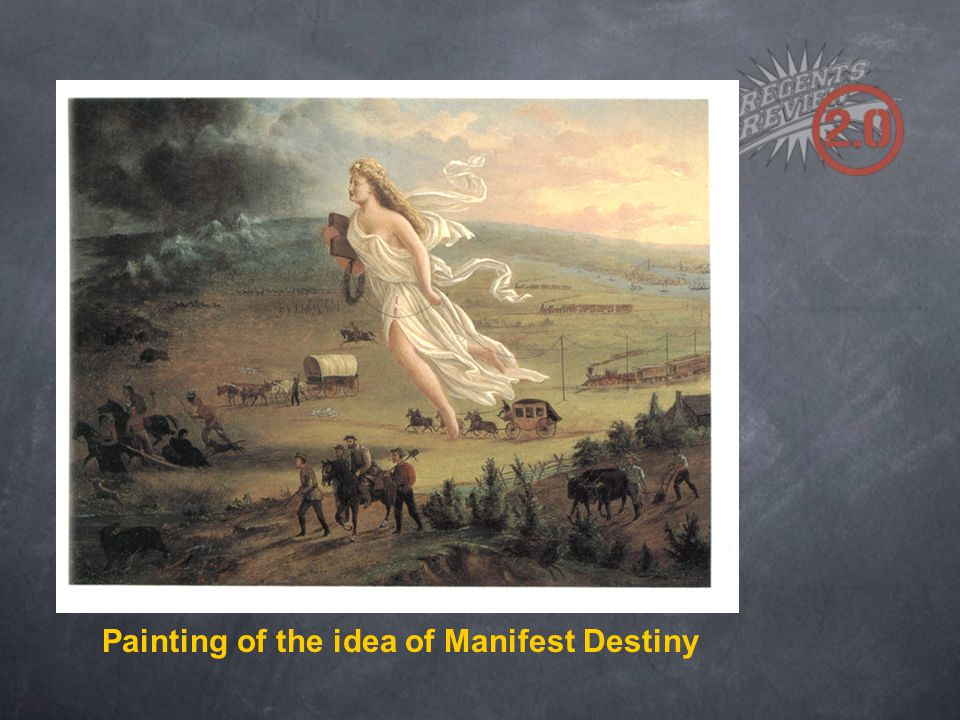 Painting of the idea of Manifest Destiny