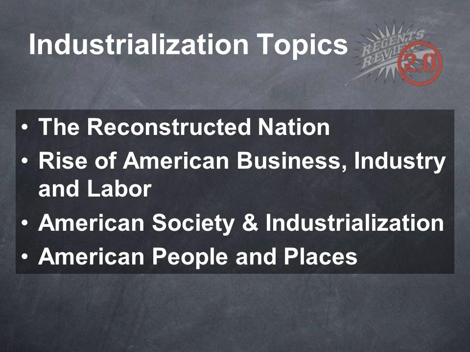 Industrialization Topics