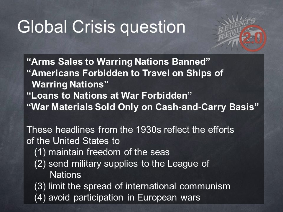 Global Crisis question