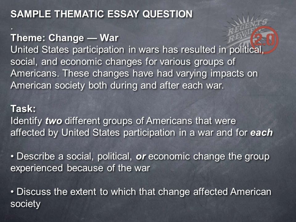 thematic essay on the constitution and change An essay on the constitution - after gaining and that is why i believe the united states should change its constitution because it gives too much.