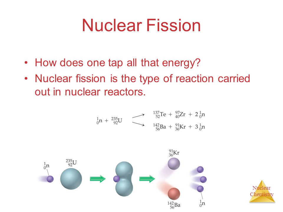 Nuclear Fission How does one tap all that energy
