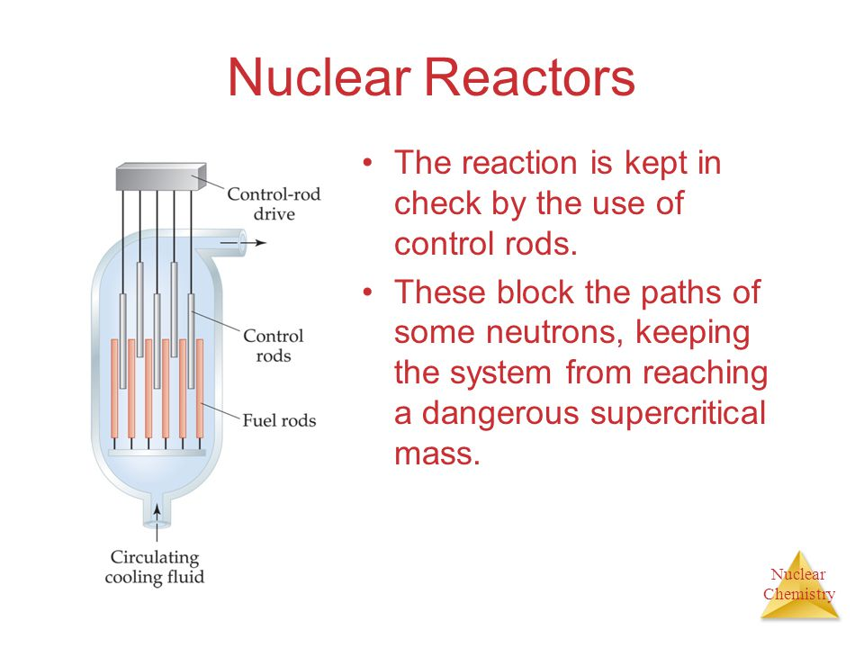 Nuclear Reactors The reaction is kept in check by the use of control rods.