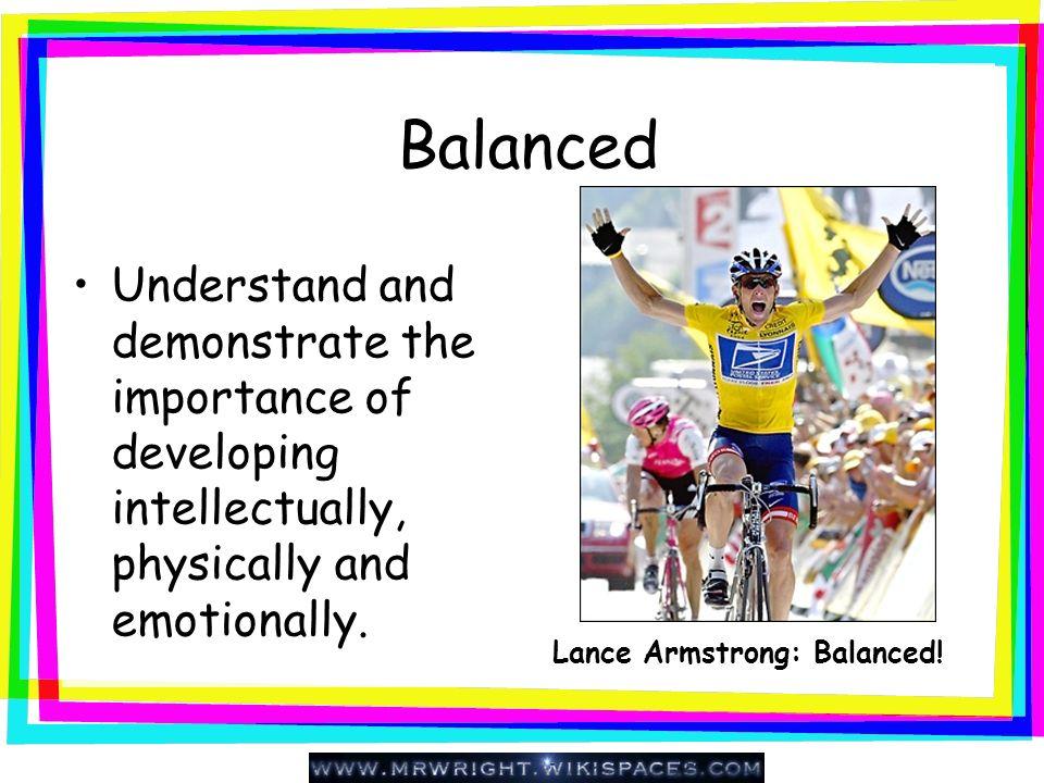 Lance Armstrong: Balanced!