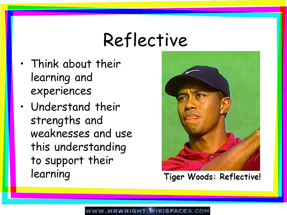 Tiger Woods: Reflective!