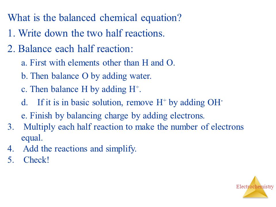 What is the balanced chemical equation