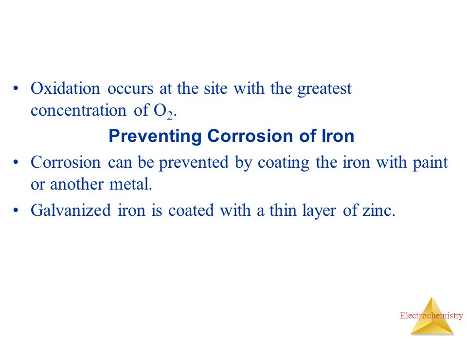Preventing Corrosion of Iron