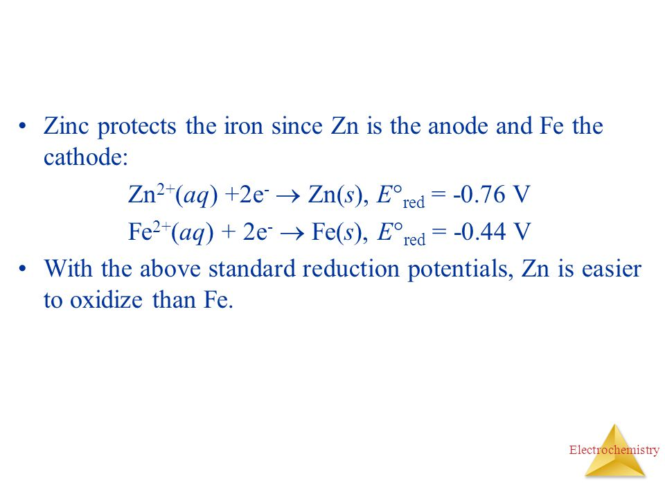 Zinc protects the iron since Zn is the anode and Fe the cathode: