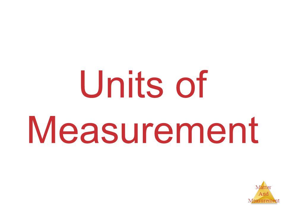 Units of Measurement 8