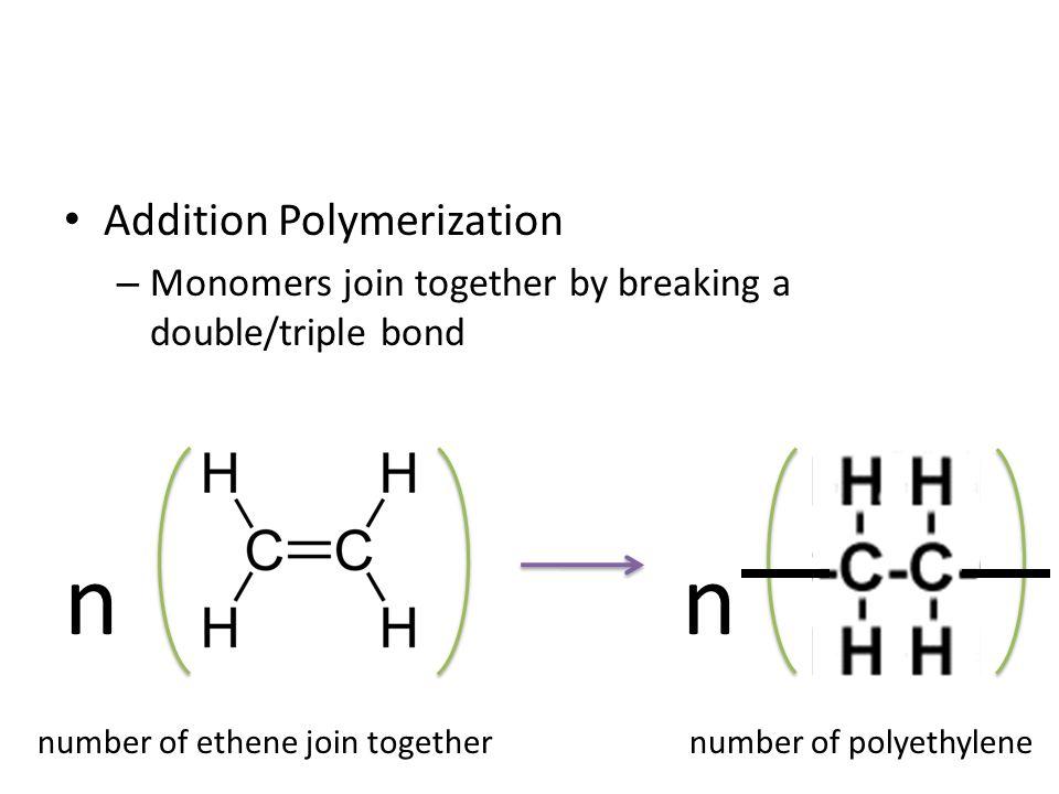 n n Addition Polymerization