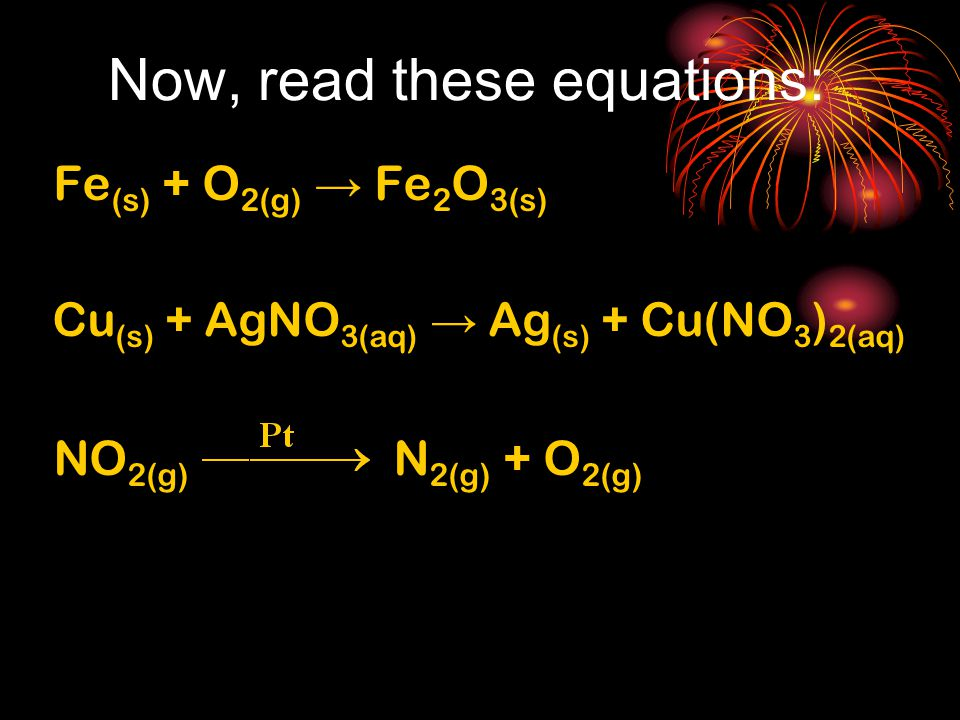 Now, read these equations: