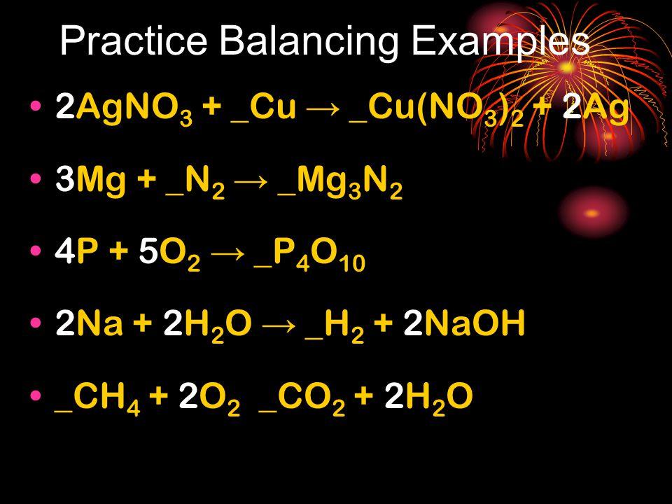 Practice Balancing Examples