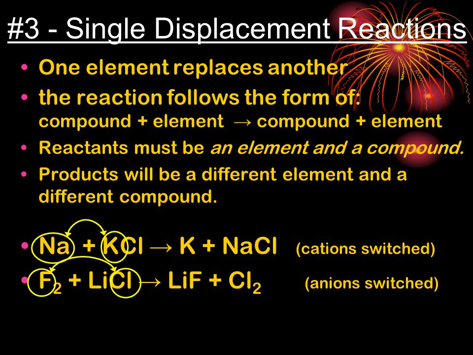 #3 - Single Displacement Reactions