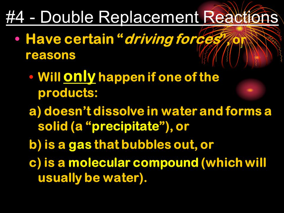#4 - Double Replacement Reactions