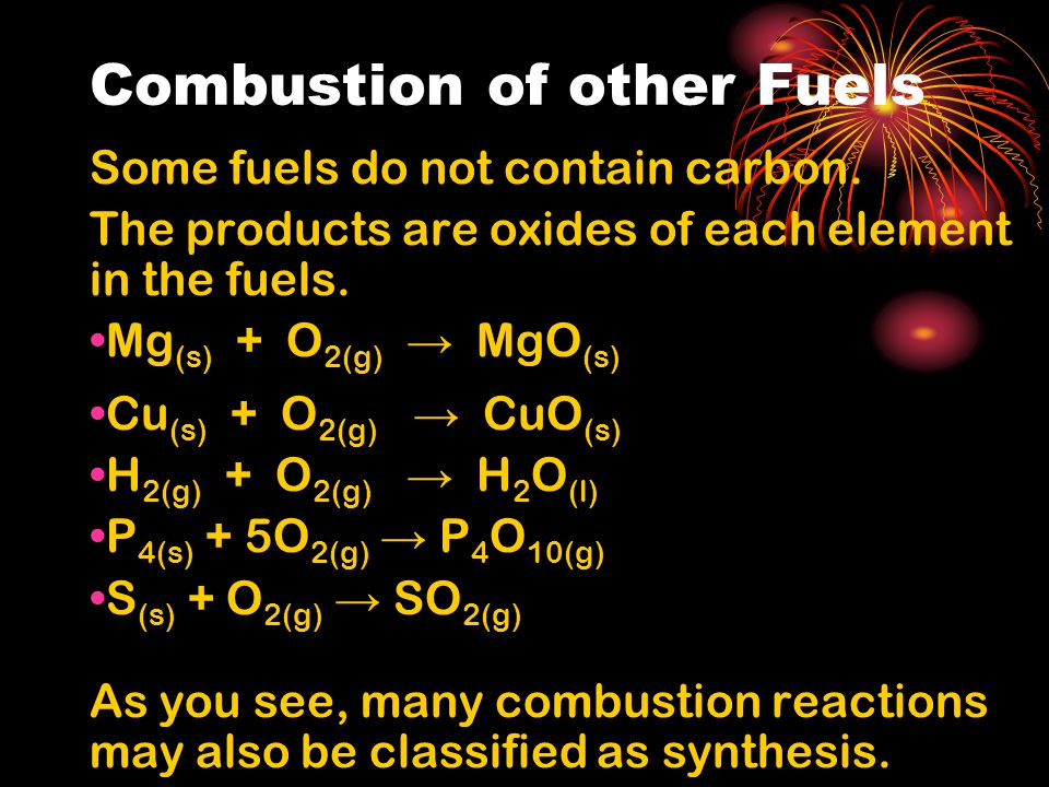 Combustion of other Fuels