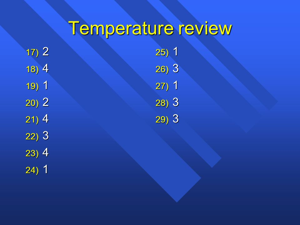 Temperature review 2 4 1 3 1 3