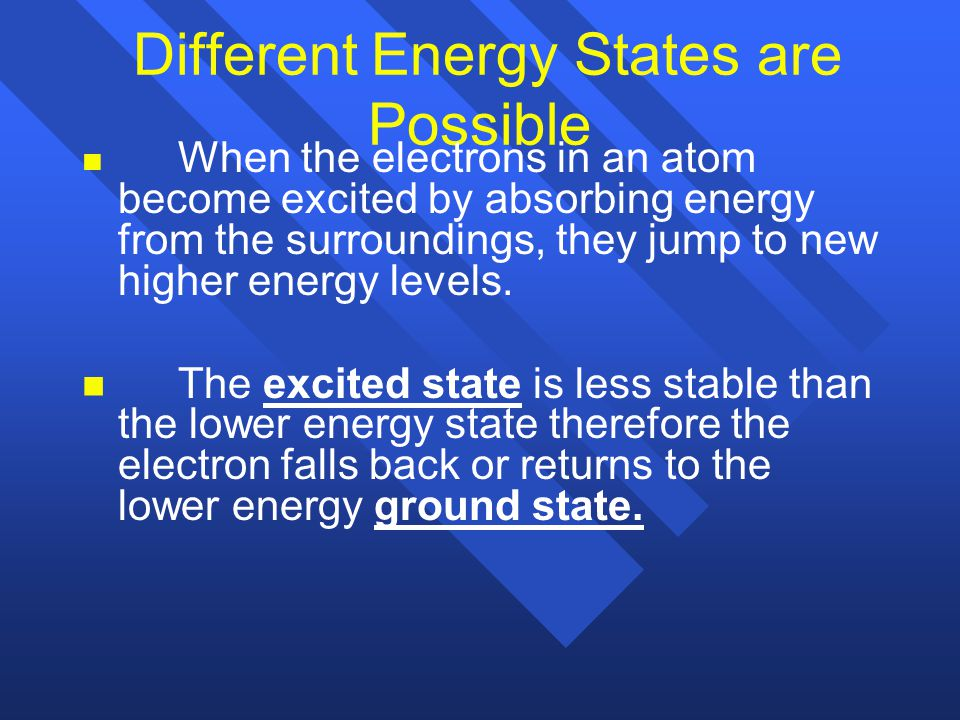 Different Energy States are Possible
