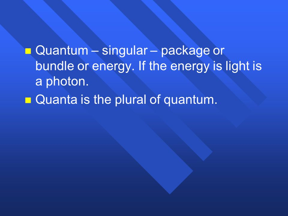 Quantum – singular – package or bundle or energy