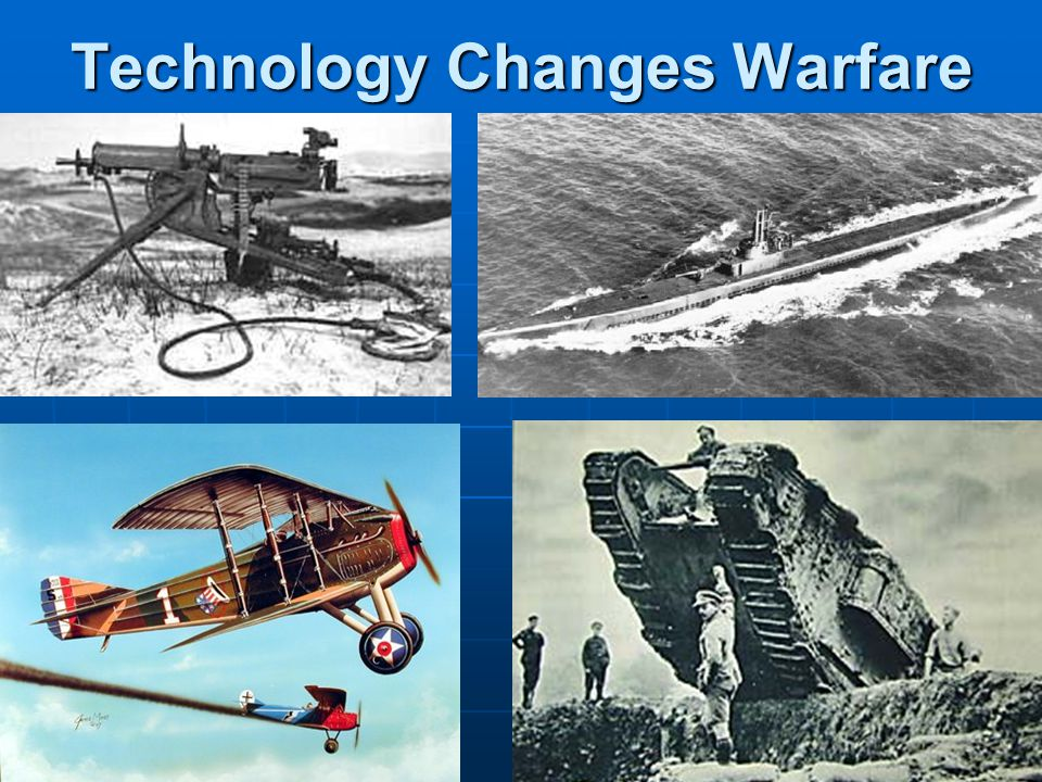 Technology Changes Warfare