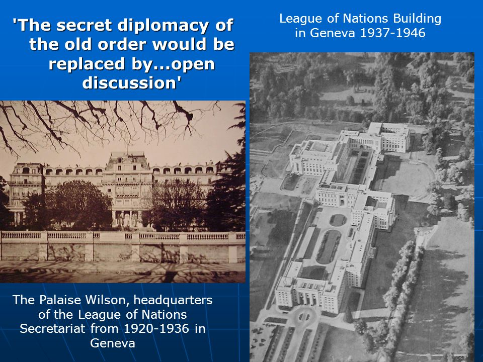 League of Nations Building in Geneva 1937-1946