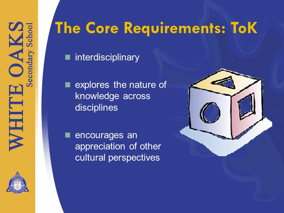 The Core Requirements: ToK