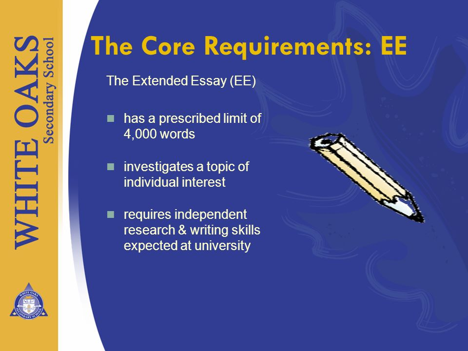 The Core Requirements: EE