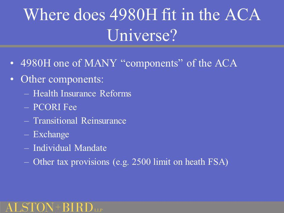 Where does 4980H fit in the ACA Universe