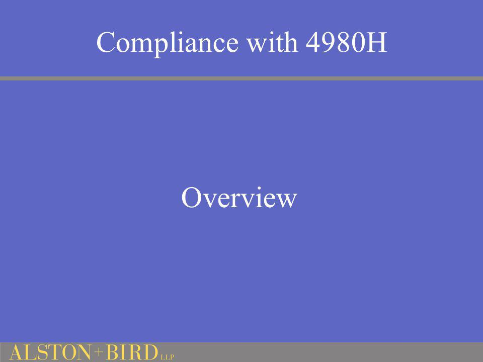 Compliance with 4980H Overview