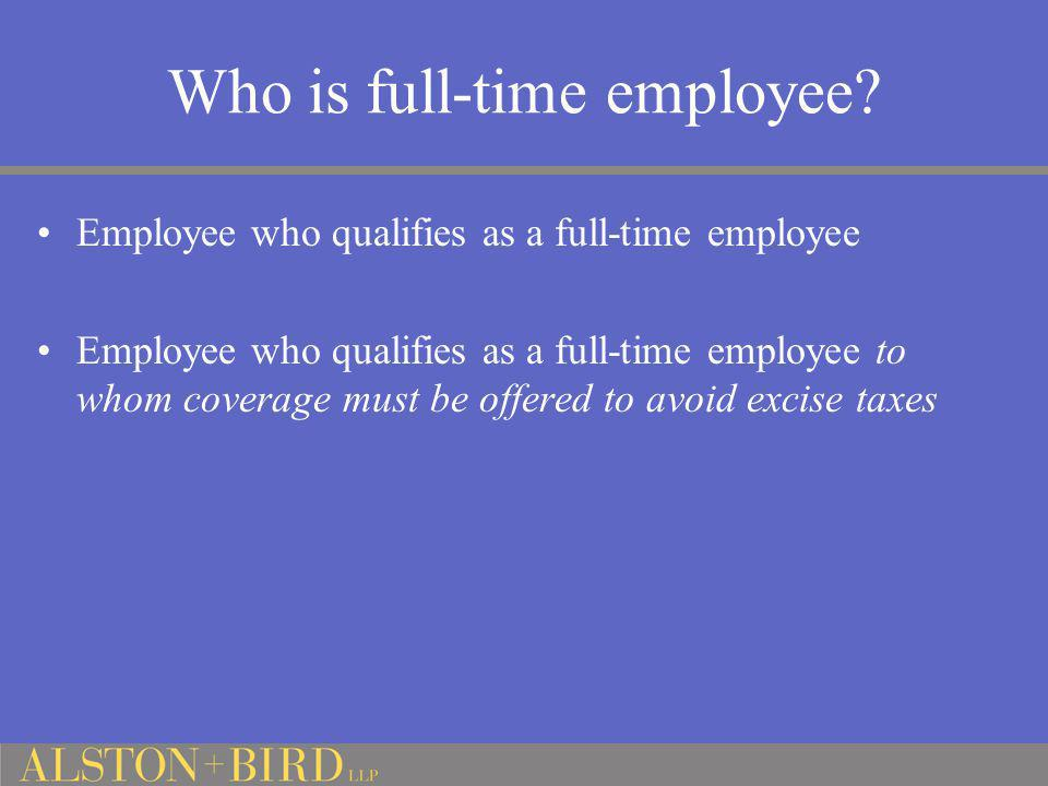 Who is full-time employee