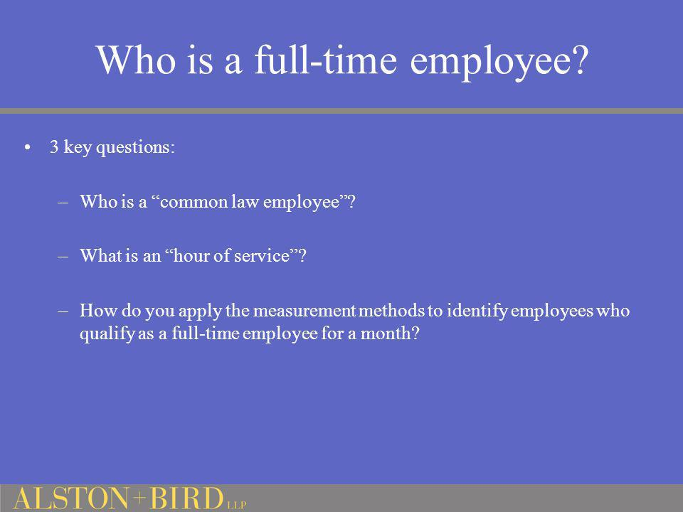 Who is a full-time employee