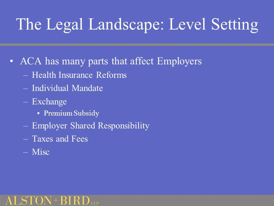 The Legal Landscape: Level Setting
