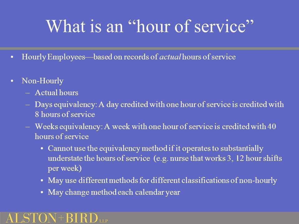 What is an hour of service