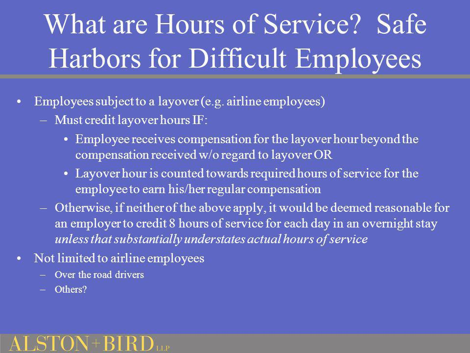What are Hours of Service Safe Harbors for Difficult Employees