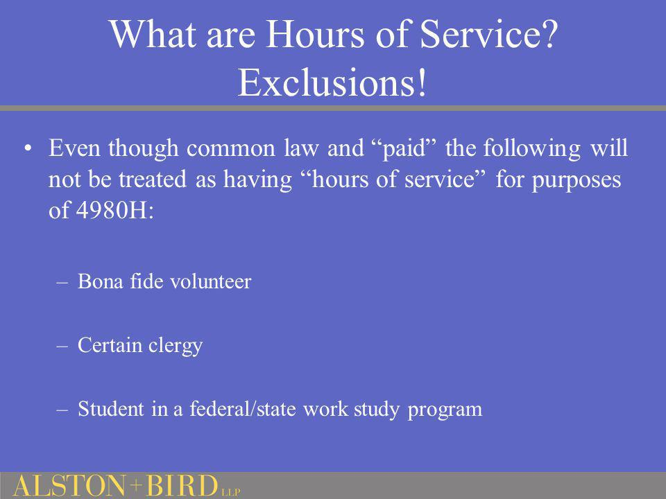 What are Hours of Service Exclusions!