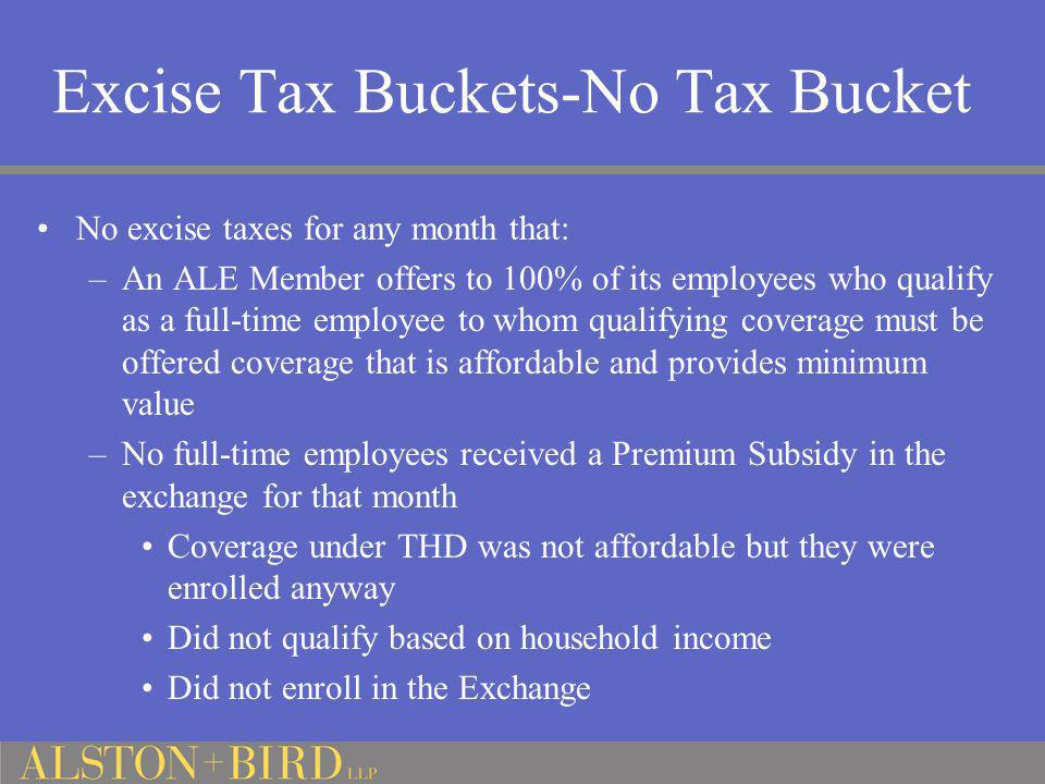 Excise Tax Buckets-No Tax Bucket