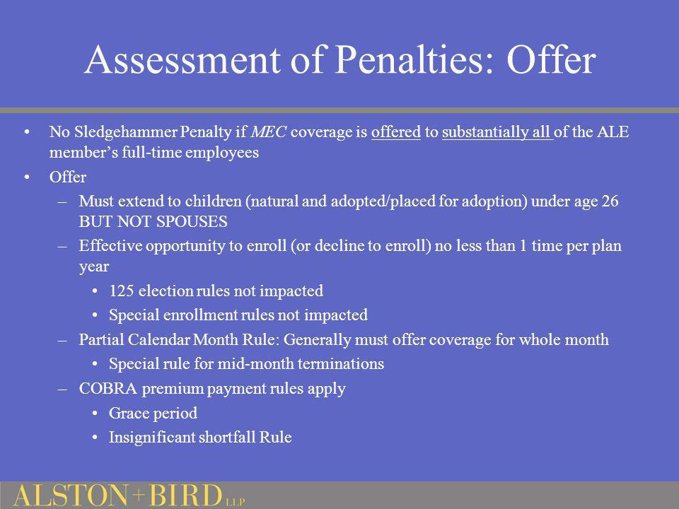 Assessment of Penalties: Offer