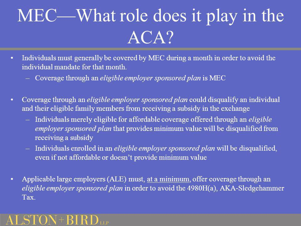 MEC—What role does it play in the ACA